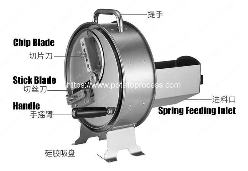 Manual-Potato-Chips-and-Stick-Cutting-Machine-Structure