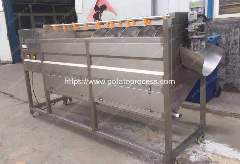 Screw-Feeding-Type-Potato-Washing-Peeling-Machine-for-Asia-Customer