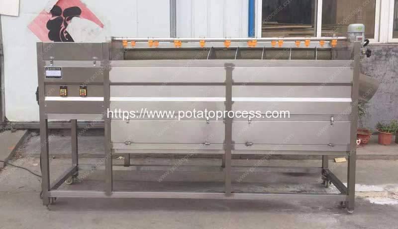Screw-Feeding-Type-Sweet-Potato-Washing-Peeling-Machine-Manufacture